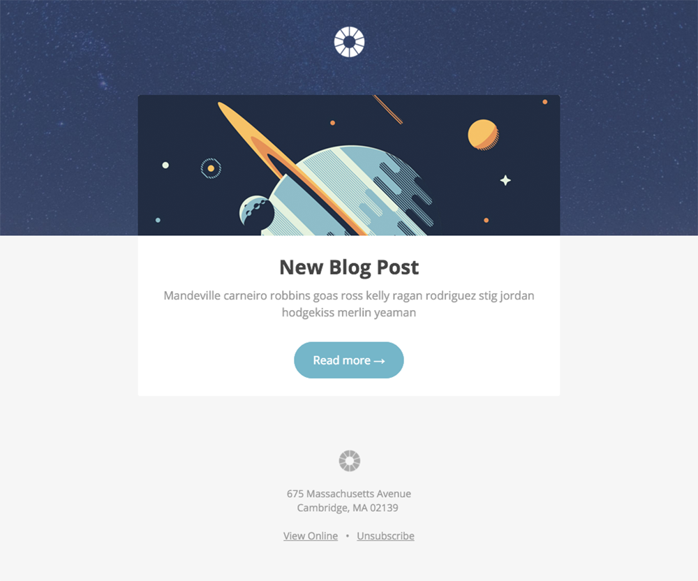 Pook: Blog Post - free Mautic email template
