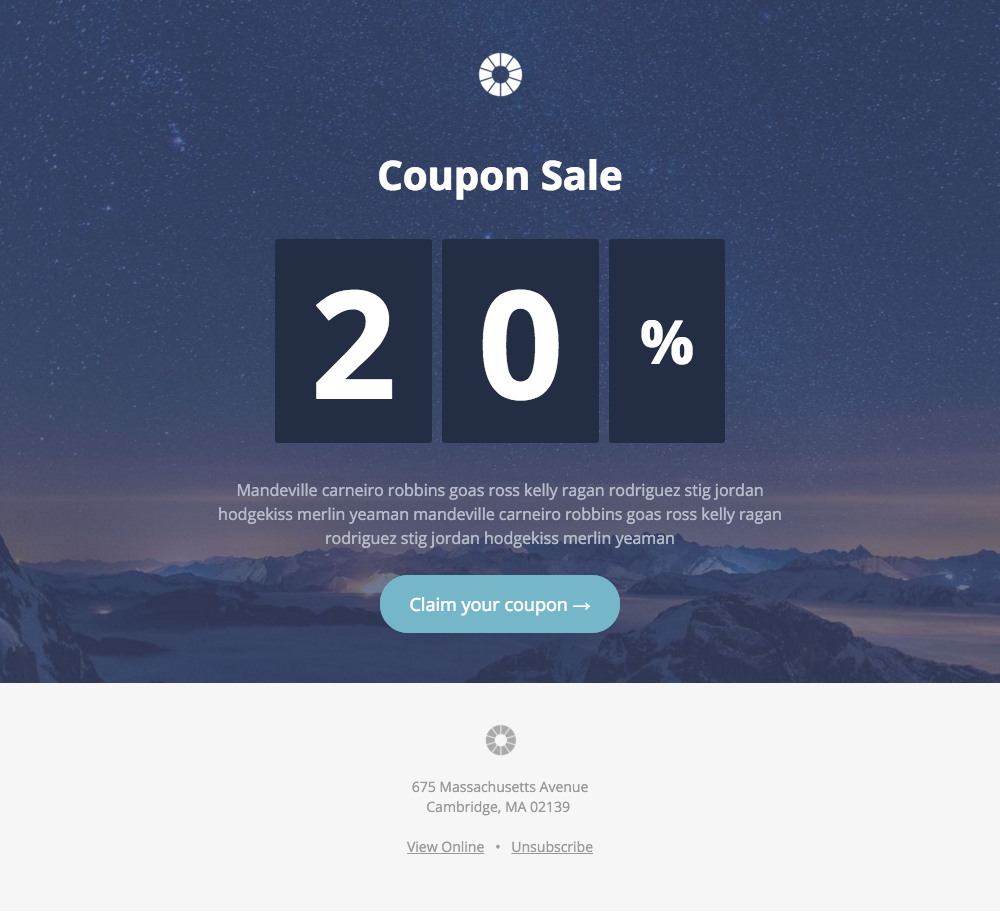 Pook Coupon Sale A Free Mautic Email Template Innotiom