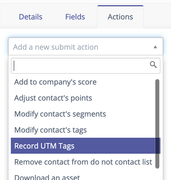 Record UTM tags with Mautic